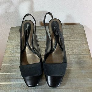 Naturalizer Black Leather Comfort heels